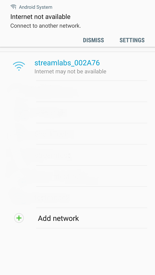 When connected to the Monitor's Wi-Fi, my Android device says